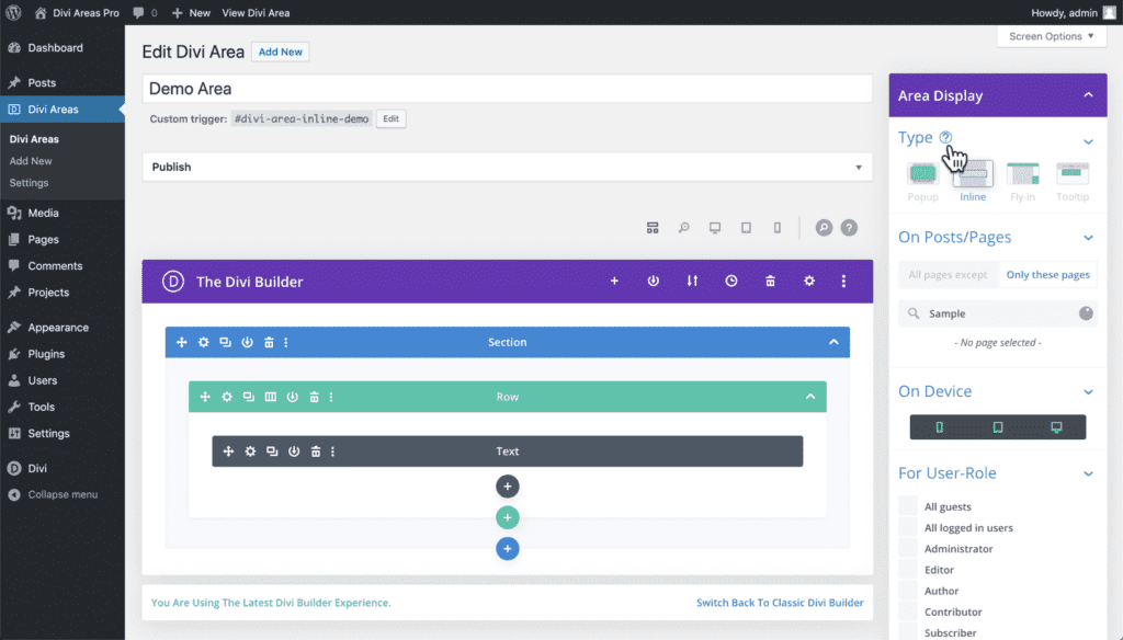 The new admin UI is handcrafted to feel natural and intuitive.