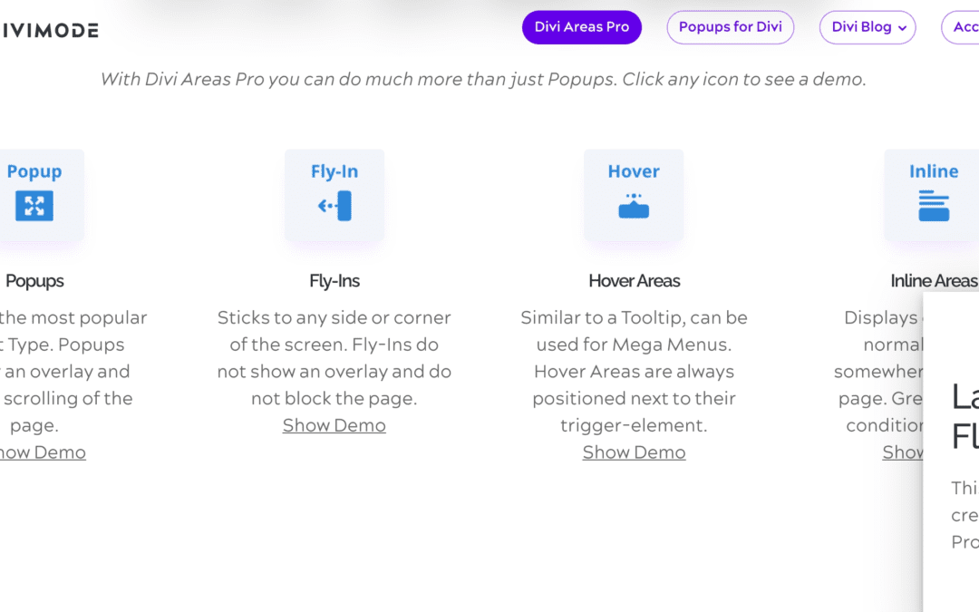 Introducing the Divi Areas Pro Layout Library